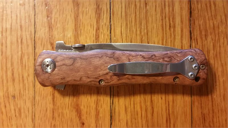 how to clean a wooden pocket knife