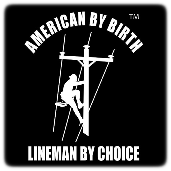 American By Birth Vinyl Lineman Decal