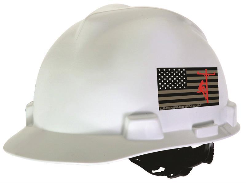 Patriot Lineman Hard Hat Sticker