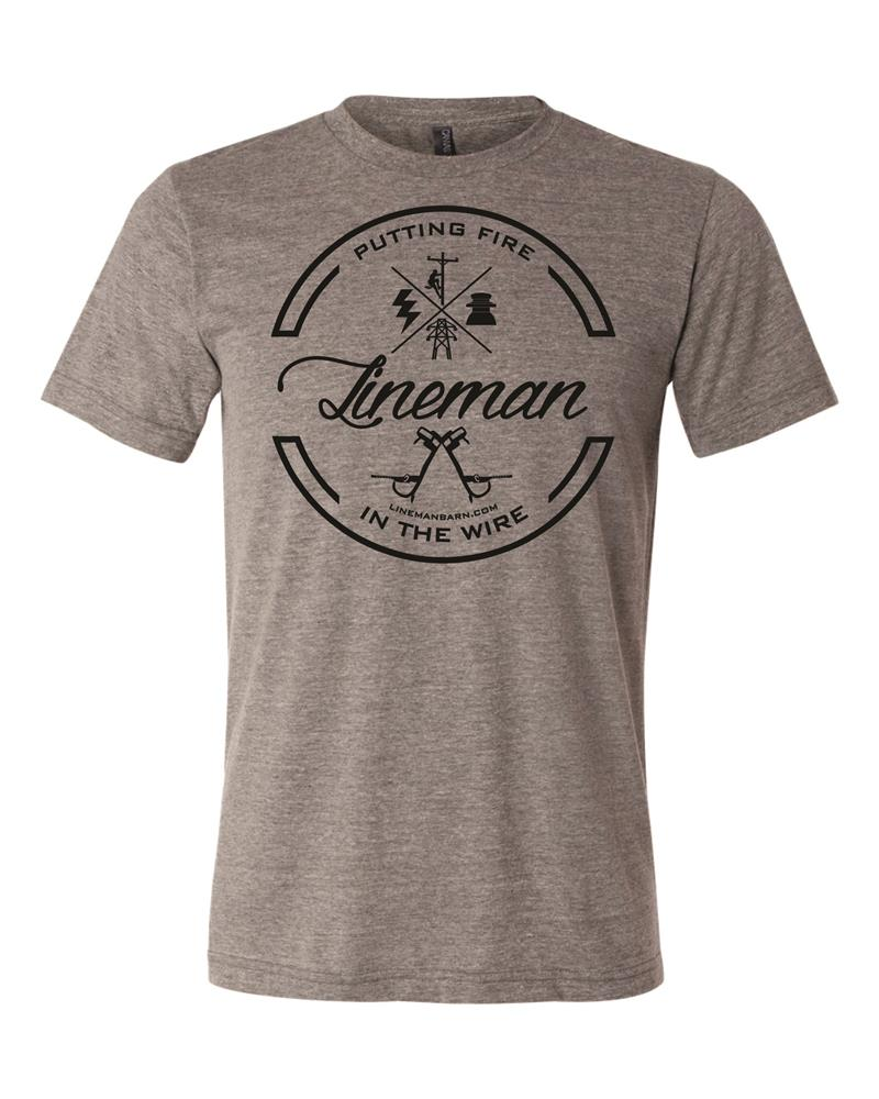 Lineman Fire in the Wire tee