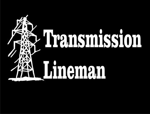 Transmission Lineman Vinyl Decal
