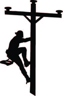 2 inch Climbing Lineman Vinyl Decal